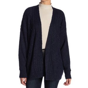 14th & Union Navy Cable Knit Detail Cardigan